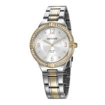Relógio Seculus Feminino Ref: 28966lpsvba1 Social Bicolor -