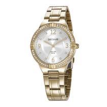 Relógio Seculus Feminino Ref: 28966lpsvda2 Casual Dourado -