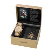 Relógio Seculus Feminino Ref: 35019lpskda1 Dourado São Jorge -
