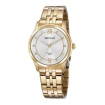 Relógio Seculus Feminino Ref: 35025lpsvda1 Social Dourado -