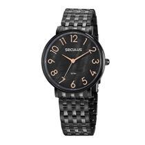 Relógio Seculus Feminino Ref: 77030lpsvps4 Fashion Black -