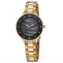 Relógio Seculus Feminino Ref: 77048lpsvds1 Fashion Dourado -