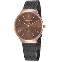 Relógio Seculus Feminino Ref: 77057lpsvis2 Fashion Bicolor -