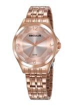 Relógio Seculus Feminino Rosé 23602LPSVRS4 -