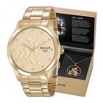 Relógio seculus feminino são jorge semijóia 35019lpskda1k1 -