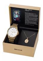 Relógio Seculus Kit São judas Tadeu 35014GPSKDA1K1 -