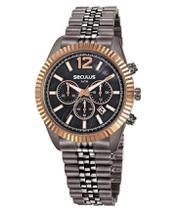 Relógio seculus madrepérola cronógrafo feminino 20778lpsvss3 -