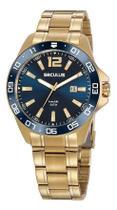 Relógio Seculus Masculino 20809gpsvda2 Dourado E Azul -