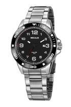 Relógio seculus masculino 20853g0svna1 prata e preto -