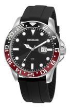 Relógio Seculus Masculino 20902g0svnu2 Preto E Prata -