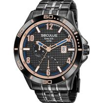 Relógio seculus masculino 35022gpsvpa2 preto -