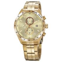 Relógio Seculus Masculino Aço Cronógrafo Dourado 20838GPSVDA3 -