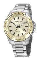 Relógio seculus masculino aço misto 20849g0svna2 -