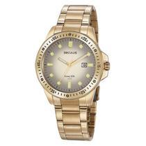 Relógio Seculus Masculino Analógico 20852GPSVDA2 Aço Dourado -