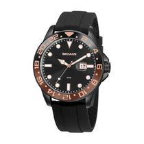 Relógio Seculus Masculino Analógico 20902GPSVPU3 Aço Marrom -
