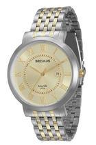 Relógio Seculus Masculino Analógico Bicolor 20298gpsvba2 -