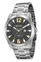 Relógio Seculus Masculino Analógico Calendário 20496g0svna2 -