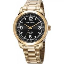 Relógio Seculus Masculino Analógico Dourado 23639GPSVDA3 -