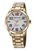 Relógio Seculus Masculino Analógico Dourado 23654GPSVDA2 -