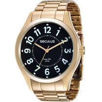 Relógio Seculus Masculino Analógico Dourado 28866GPSVDA2 -