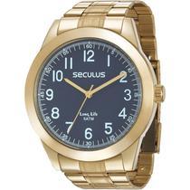 Relógio Seculus Masculino Analógico Dourado 28937GPSVDA1 -