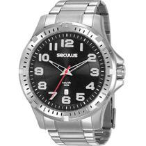 Relógio Seculus Masculino Analógico Prata 20787G0SVNA2 -