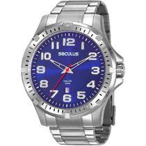 Relógio Seculus Masculino Analógico Prata Com Calendário 20787G0SVNA4 -