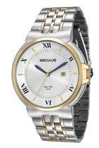 Relógio seculus masculino bicolor23513gpsvba2 -
