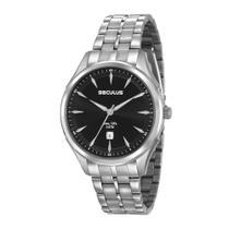 Relógio Seculus Masculino Clássico Long Life Prateado 23599GOSVNA1 -