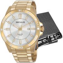 Relógio Seculus Masculino Com Kit Higiene 20956GPSVDA4K1 -