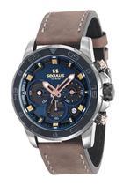 Relógio seculus masculino couro 13016gpsvsc3 -