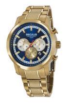 Relógio Seculus Masculino Cronógrafo Dourado 20744GPSVDA1 -