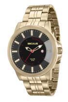Relógio seculus masculino dourado 20468gpsvda1 -