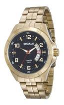 Relógio seculus masculino dourado 20469gpsvda1 -