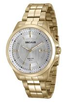 Relógio seculus masculino dourado 20470gpsvda1 -