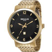 Relógio Seculus Masculino Dourado 20574GPSVDA1 -