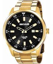 Relógio seculus masculino dourado 20786gpsvda3 -