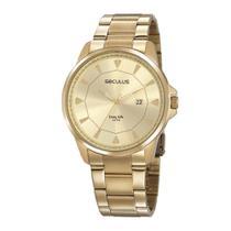 Relógio Seculus Masculino Dourado 20805gpsvda1 -
