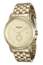 Relógio seculus masculino dourado 23527gpsvda2 -