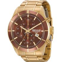 Relógio Seculus Masculino Dourado Chronograph 23600GPSVDA2 -