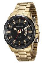 Relógio seculus masculino dourado com preto 23576gpsvha1 -