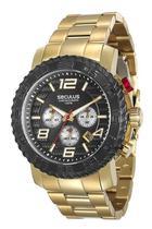 Relógio seculus masculino dourado e preto28674gpsvda1 -