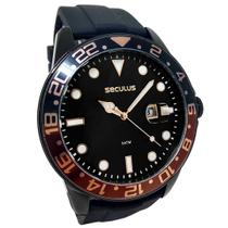 Relógio Seculus Masculino Esportivo a Prova d'agua Pulseira Silicone 5 ATM -