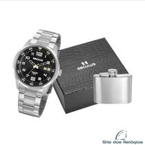 Relógio Seculus Masculino KIT 20802G0SVNA3K1 Prata -