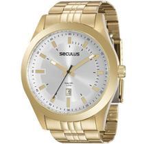 Relógio Seculus Masculino Long Life - 20408gpsvda1 -