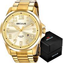 Relógio Seculus Masculino Long Life 20856GPSVDA1 -