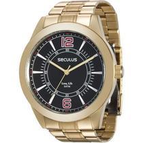 Relógio Seculus Masculino Long Life 28864GPSVDA3 -