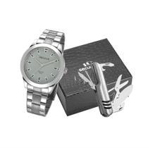 Relógio Seculus Masculino Long Life Casual Prateado 28980GOSVNA2K1 -