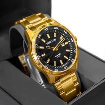 Relógio Seculus Masculino Long Life Dourado Analógico 20786GPSVDA3 -