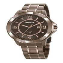 Relógio Seculus Masculino Long Life Marrom 20755GPSVMA1 -